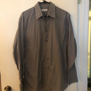 FLASH SALE:Grey Calvin Klein Button Up Dress Shirt